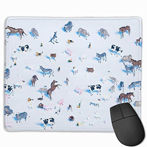 Farm Animals 3D-Spielzeug Rechteckiges rutschfestes Gaming-Mauspad Tastatur Gummi-Mauspad für Heim- und Büro-Laptops