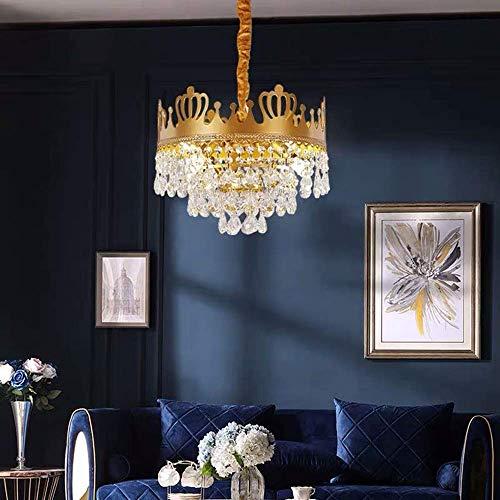 YUNZHI Infantil Crystal Room lámpara de luz Corona Francesa nórdica Restaurante Dormitorio de la lámpara de América lámpara de la lámpara acogedora