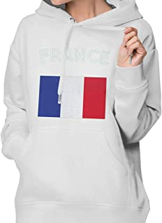 DGGE France Flag Womens Hoodies Sweatshirts Clothing and Sports