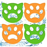 Pet Hair Remover for Laundry 4 Pack Laundry Hair Catcher Washing Machine Lint Remover Reusable - Pet Fur Laundry Catcher Hair Remover for Laundry Bedding Clothes