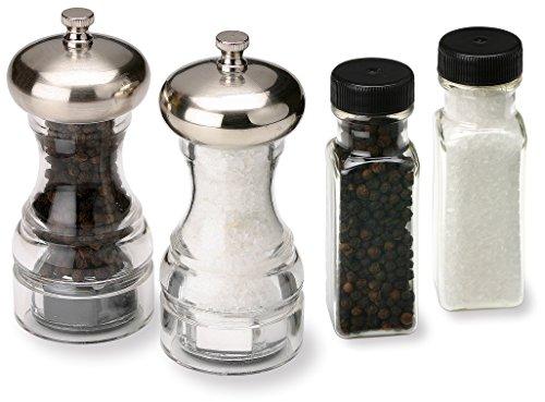 Olde Thompson Aspen Peppermill and Salt Grinder with Bonus Pepper and Salt