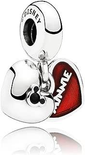 Qinger Disney Pendant Mickey and Minnie Charm For Pandora Bracelet Beads 791441NCK