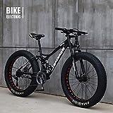 GLJY Vélo VTT Haut, Fat Wheel Moto/Fat Bike/Fat Tire Mountain Bike, Beach Cruiser Fat Tire Bike...