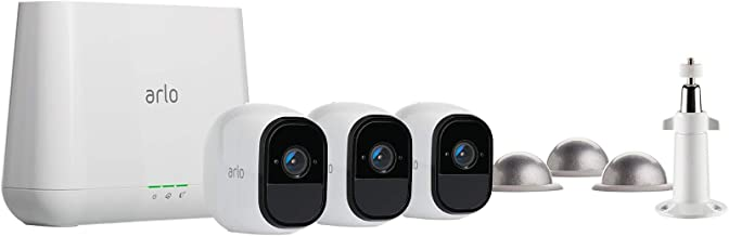 Arlo Pro - Wireless Home Security Camera Starter System | Rechargeable, Night vision, Indoor/Outdoor | 3 camera kit with w...