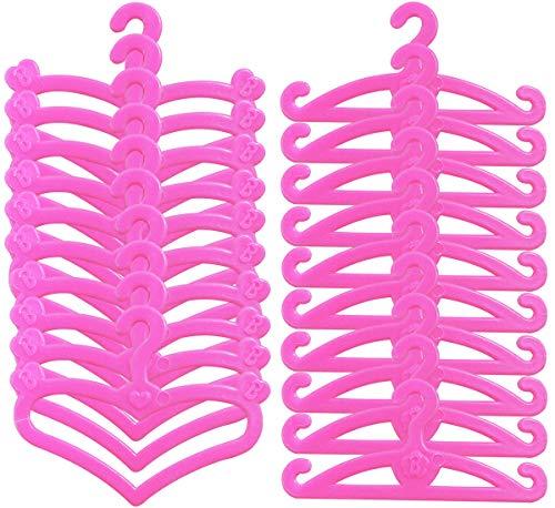 100 Kleiderbügel Plastik Puppenkleiderbügel für 11,5 Zoll Puppen