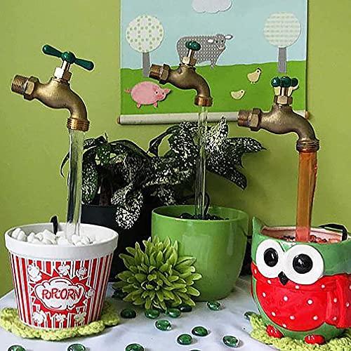 Fuente de agua invisible con boquilla de flujo invisible, fuente de agua para pared al aire libre, decoración para jardín, patio y mejora del hogar (3 piezas)