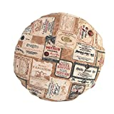 """beties """"Rustika"""" Kissenhülle rund ca. 40 cm Ø Kopfkissenbezug in großer Artikel-Auswahl für einen gemütlichen warmen Vintage Einrichtungsstil Camel-Burgund"""