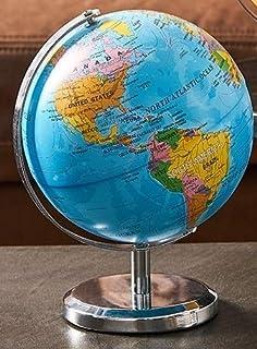 Home Decoration Accessories Retro Rotating Globe Modern Learning Globe Kids Study Desk Decor World Map Geography Kids Educ...