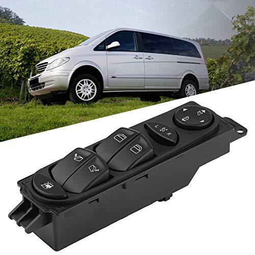 Interruptor de elevalunas de coche, panel de control, espejo de la ventana, interruptor de control maestro eléctrico para Mercedes Benz Viano Vito W639 A6395451313