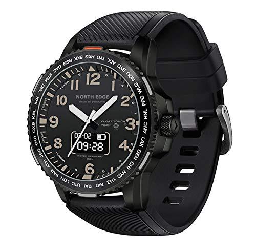 QFSLR Smartwatch,Reloj Inteligente con Pulsómetro, De Reloj Inteligente Fotografía Remota Cronómetros,Calorías, Monitor De Sueño para Android iOS,Negro