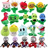 TavasHome Plants vs Zombies Plush Toys,20 Pack,Bonus 2pcs Mini peashooters,PVZ Soft Stuffed Toys Games Doll for Kids Baby Gifts Party