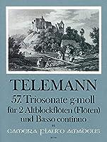 TELEMANN - Trio Sonata en Sol menor para 2 Flautas de Pico Alto (2 Flautas) y Piano