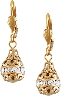 Handmade Leventy Earrings for woman   Swarovski crystals with 24 Kt gold plated hook   Handmade in New York by Alzerina Jewelry