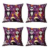 HLDC Funda de almohada de decoración de Halloween, 4 fundas de...