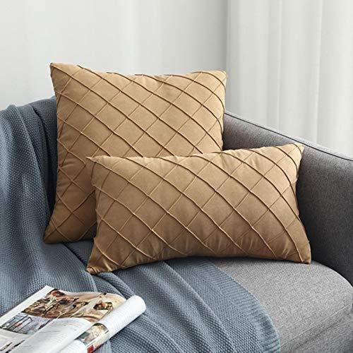 WYXMZ Funda de cojín moderna y simple nórdico a cuadros, color sólido, funda de cojín Decrativa, fundas de almohada para sofá, sala de estar, funda de almohada caliente