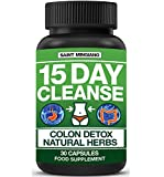 15 Day Cleanse, Colon Cleanse Detox with Natural Laxative Including Senna Leaf, for Constipation & Bloating Relief. 30 Vitamins & Dietary Supplements Pills