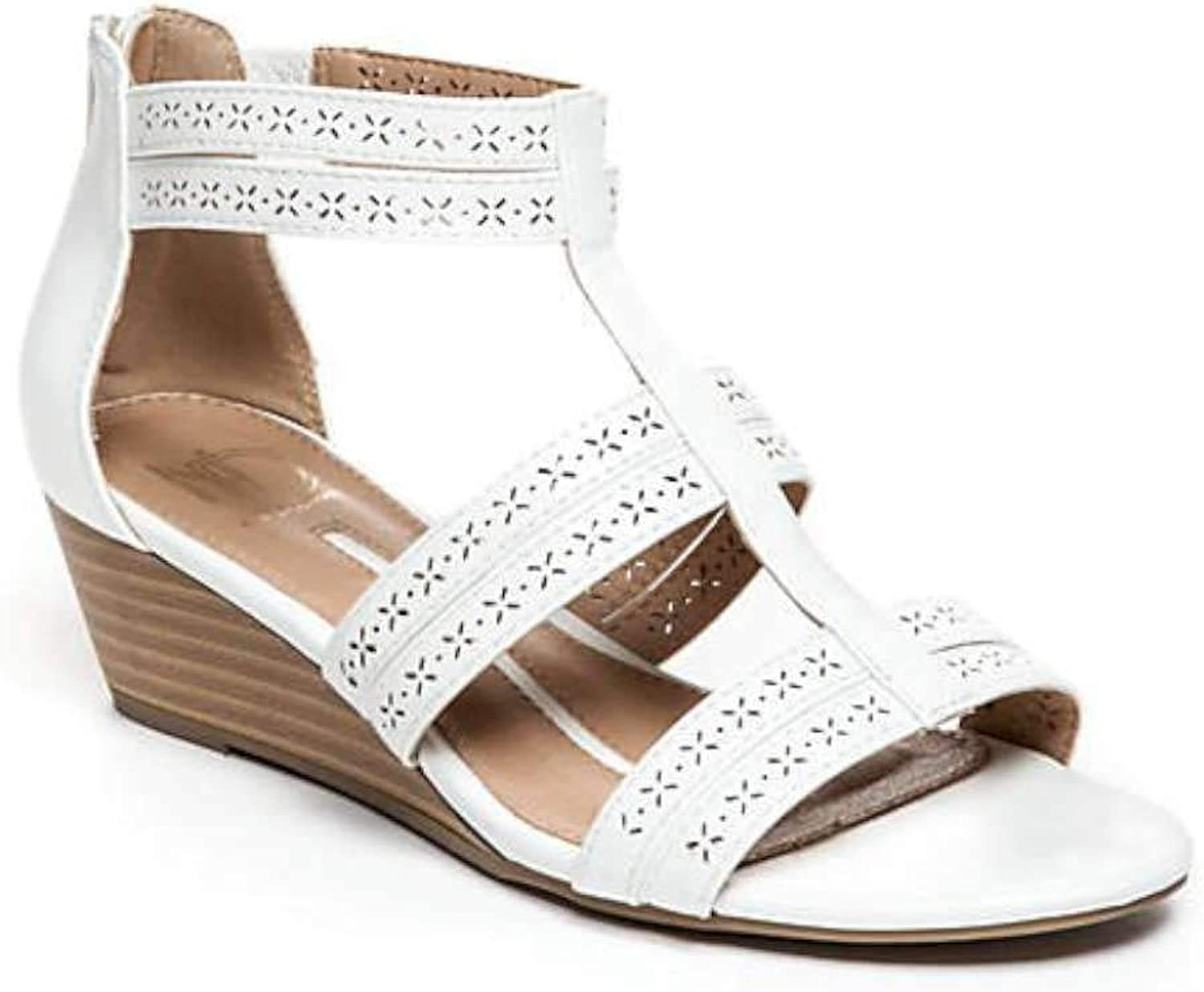 New Directions Womens Vsuw110380 Open Toe Casual Strappy Sandals