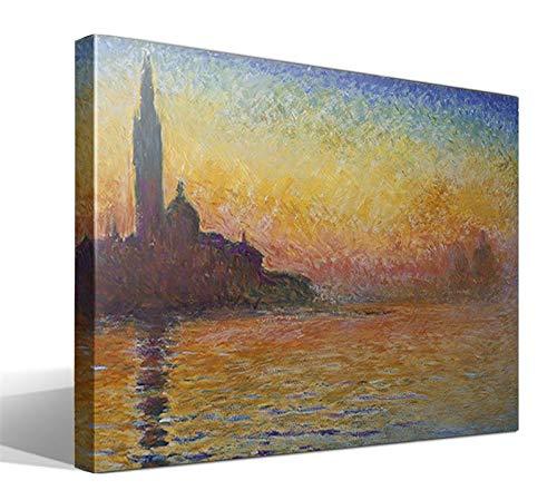 Cuadro Canvas Crepúsculo en Venecia de Oscar Claude Monet