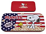 Red, White, and Blue Snoopy Popcorn Tin Pencil Box Case