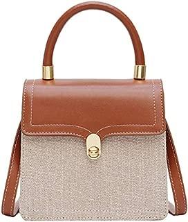 TOOGOO Women'S Messenger Bag Lady Bag Vintage Tote Bag Coloring Lady Shoulder Bag Brown