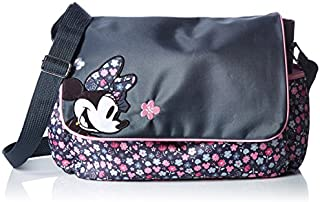 Disney Minnie Mouse Diaper Bag with Flap, Ditsy Floral Print, Grey/Pink