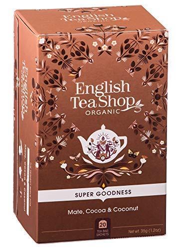 English Tea Shop Infuso Biologico con Yerba Mate, Cacao, Zenzero e Cocco Made in Sri Lanka - 1 x 20 Bustine di Tè (35 Grammi)