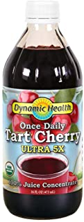 Dynamic Health Once Daily Tart Cherry Ultra 5X | 100% Juice Concentrate | No Additives or Preservatives | Antioxidant | 16...