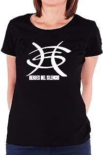 LILILOV Women's T Shirts Heroes Del Silencio Logo 1 Black