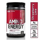 Optimum Nutrition Amino Energy, Pre Workout Booster Avec Bêta-Alanine, Cafeine, Acides Aminés et Vitamine C, Fraise Citron Vert, 30 Portions, 270 g