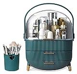 USMEI Organizador de Maquillaje y Almacenamiento,Caja de Almacenamiento cosmética portátil,Pantalla cosmética con Organizador de cepillos y Cubierta Transparente for Vestir de baño mostrador