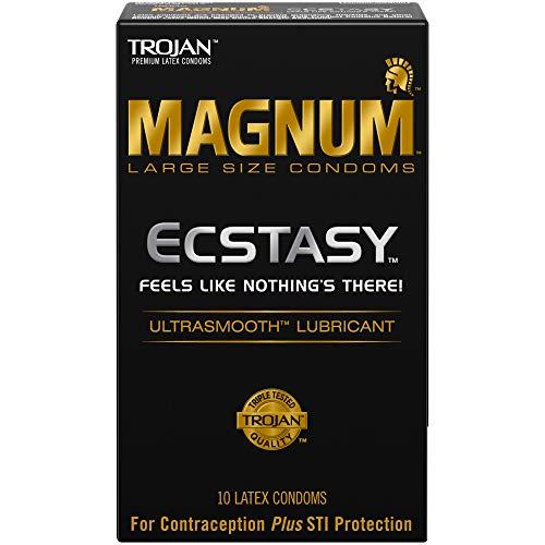 Trojan Magnum Ecstasy Large Size Condoms - 10 Count