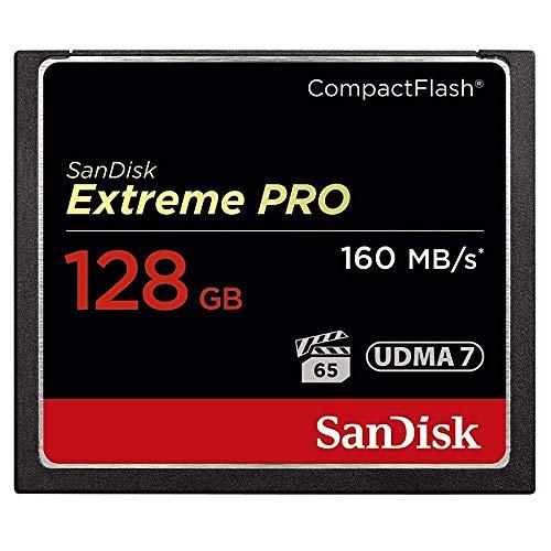 SanDisk Extreme Pro - Scheda di memoria CompactFlash UDMA 7, fino a 160 MB/s (incassata) 128Gb