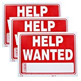 Bazic Small 9 x 12 Inches Help Wanted Sign,...