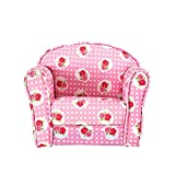Panana Kids Armchair Children's Tub Chair Girl Boy Seating Chair Cartoon Sofa Pink Rose Upholstered Armchairs for Bedroom Playroom (Rose)