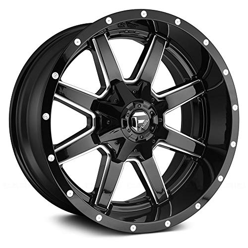 FUEL Maverick NBL-Gloss BLK MIL Wheel with Painted (20 x 10. inches /8 x 165 mm, -18 mm Offset)