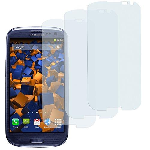 mumbi Schutzfolie kompatibel mit Samsung Galaxy S3 Folie, Galaxy S3 Neo Folie klar, Displayschutzfolie (3X)