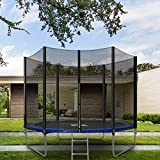 Merax 6FT Kids Trampoline with Safety Enclosure Net, Jumping Sheet,Outdoor Sports Adult Children Bounce Trampoline With Ladder Foldable Trampoline