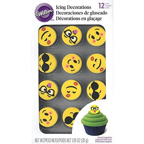 Wilton 710-7245 Emoji Icing Decorations