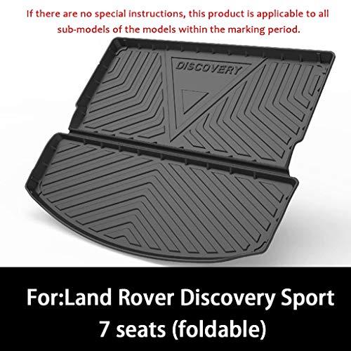 QCHD Kofferraummatte für Land Rover Discovery Sport 7 Sitze (klappbar) Heckkoffer-Innenschuh Ladefläche Bodenauflage Schwarzes TPO-Gummimaterial