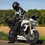 Textile Motorcycle Jacket For Men Dualsport Enduro Motorbike Biker Riding Jacket Breathable CE ARMORED WATERPROOF (Black, 3XL)