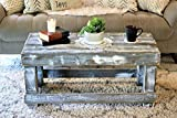 Mesa de palets de madera & Mesa Vintage& Centro hecha con madera de pallets para Salon & Jardin, terraza, DIY - Estilo rustico, nórdico, escandinavo, farmhouse, retro - Mesas Originales