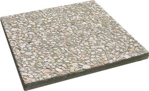 OEM SYSTEMS Base in pietra per ombrellone Peso 20 kg - Misura 50x50 cm