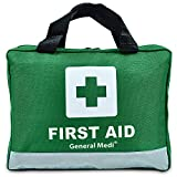 210 Piece First Aid Kit- Emergency kit - Reflective Design - Includes Eyewash, Ice(Cold) Pack, Moleskin Pad and Emergency Blanket for Travel, Home, Office, Car, Workplace & Outdoor
