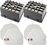 TATX 2 HEPA + 2 Foam Replacement for Shark Rotator NV450 NV451 / Rocket NV472 NV480 NV480 26 NV481 NV482 NV484 Professional Upright Vacuum, Part # XHF480 & XHF450 (Tall Size 2.75')