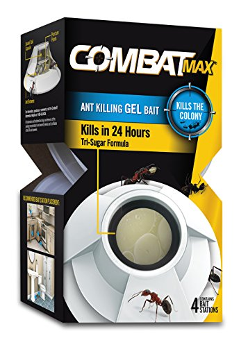 Combat Max Ant Killing Gel Bait Station, Indoor and Outdoor Use, 4...