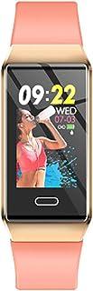 Rastreador de Ejercicios Pantalla táctil a Color, Impermeable Reloj Pulsómetro Presión Arterial Monitor de Sueño Podómetro Recordatorio sedentario Bluetooth Reloj Inteligente SNS