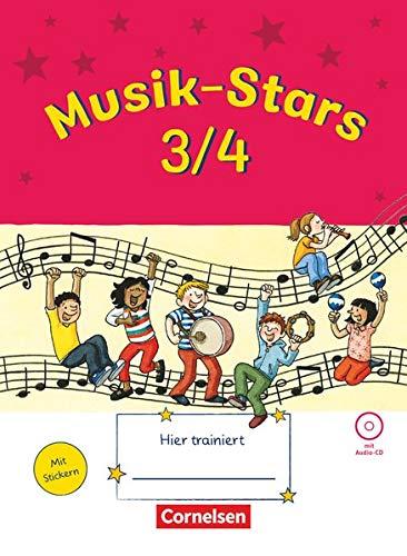 Musik-Stars - Grundwissen - 3./4. Schuljahr: Übungsheft mit Lösungen und Audio-CD