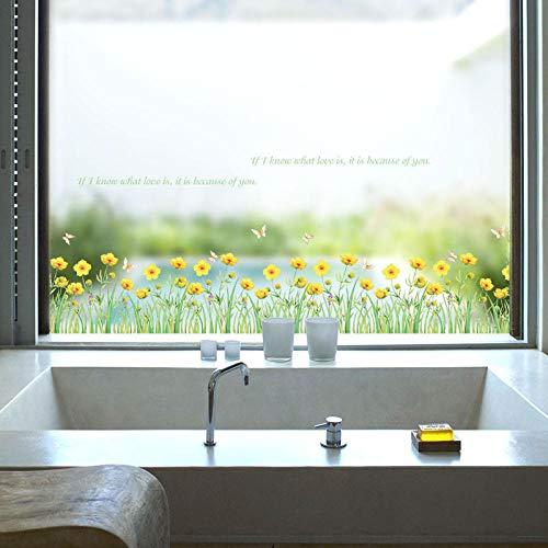 Cooldeer muursticker voor wanddecoratie, kleine bloemen, geel