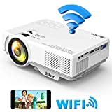 Jinhoo Mini WiFi Video Projector Update 4500 Lux, 1080P Supported 176'' Projector size