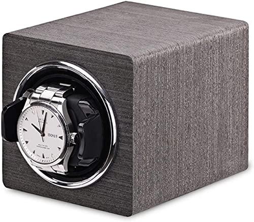 PLMOKN Uhr Wickler Mini Automatische Uhren Wickelkastenuhr Aufbewahrung Casempanische Uhr Shaker Schwarz Graue Batterie + AC Power Home (Color : Gray, Size : 11×13×11CM)